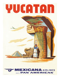 Mexicana Airlines via Pan American: Yucatan  c1960s