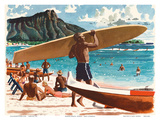 Waikiki Beach  Honolulu  Hawaii  c1950s