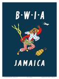 British West Indies Airways: BWIA Jamaica  c1961