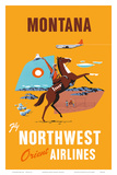 Fly Northwest Orient Airlines: Montana  c1950s