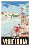 Lake Udaipur: Visit India  c1957