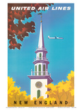 United Air Lines: New England  c1950s
