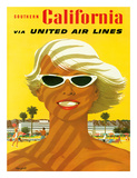 Fly United Air Lines: Southern California  c1955