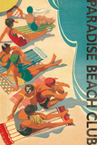Paradise Beach Club Reproduction d'art par Hugo Wild
