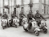Men on Vespa
