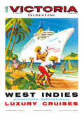 Victoria Incres Line: West Indies - Luxury Cruises  c1971