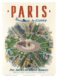 Pan American: Paris by Clipper, c.1951 Reproduction d'art