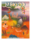 Direccion General de Turismo: Mexico  c1950