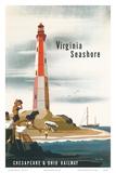 Chesapeake & Ohio Railroad: Virginia Seashore  c1950s