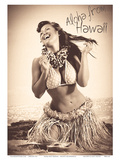 Polka Dot Wahine: Hawaiian Hula Girl