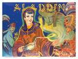 Aladdin: London Pantomime Theatre Poster  c1930s