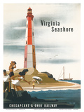 Chesapeake & Ohio Railroad: Virginia Seashore  c1950s