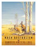 Hamburg America Line: Australian Outback, c.1935 Giclée par Ottomar Anton