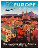 Pan American: Fly to Europe by Clipper, c.1940s Giclée par M. Von Arenburg