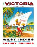 Victoria Incres Line: West Indies - Luxury Cruises  c1971