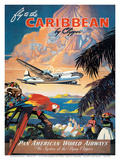 Pan American: Fly to the Caribbean by Clipper, c.1940s Reproduction d'art par M. Von Arenburg