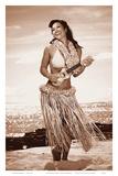 Wahine with Ukulele: Hawaiian Hula Girl