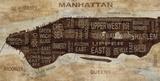 Manhattan Neighborhoods Reproduction d'art par Luke Wilson