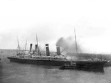 The 'New York' Being Pushed Away from the Titanic by Tugs