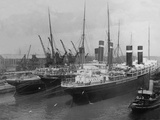 Liners in Southampton Dock Photographed During the Titanic's Departure