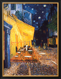 The Cafe Terrace on the Place du Forum  Arles  at Night  c1888