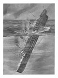 Illustration Showing the Titanic Sinking