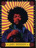 Jimi Hendrix-Psychedelic Tableau sur toile
