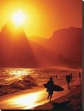La plage d'Ipanema, Rio de Janeiro, Brésil Tableau sur toile