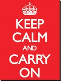 Keep Calm and Carry On-Red
