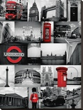 London Red-Collage Tableau sur toile