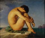 Jeune Homme nu Assis  c1855
