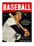 Sporting News Magazine  1948 - Joe DiMaggio - Babe Ruth Talks To Future Sluggers