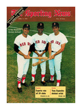 Red Sox OFs Tony Conigliaro  Carl Yastrzemski and Reggie Smith - April 11  1970