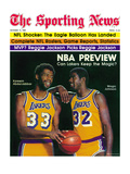 Los Angeles Lakers Magic Johnson and Kareem Abdul-Jabbar - October 11  1980
