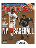 New York Yankees SS Derek Jeter and New York Mets C Mike Piazza - October 30  2000