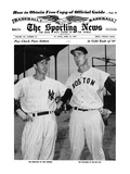 New York Yankees CF Joe DiMaggio & Boston Red Sox LF Ted Williams - Apr 13  1949