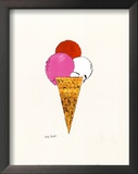 Ice Cream Dessert  c1959 (Red  Pink and White)