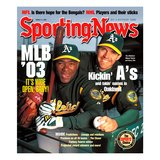 Oakland A&#39;s Miguel Tejada and Barry Zito - March 31  2003