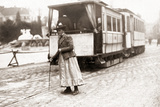 A Switchwoman in Munich  1910