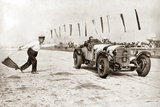 Christian Werner During a Race at the Nuerburgring  1928