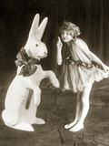 A Girl and an Easter Bunny  1925