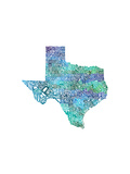 Typographic Texas Cool Reproduction d'art par CAPow