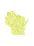 Typographic Wisconsin Chartreus
