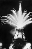 Fireworks During the World Exhibition in Paris  1937