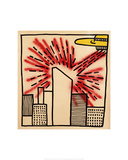 Spaceship with Ray, 1980 Giclée par Keith Haring