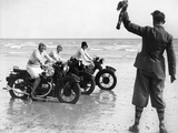 Women Racing Motorcycle Race  1930
