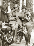 Women at a Motorcycle Rally  1932