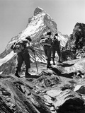 Climbers on the Matterhorn