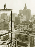 Construction of a Skyscraper in New York  1928