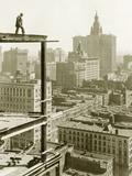 Construction of a Skyscraper in New York  1928